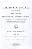 United States Code 2012 Edition Supplement V PDF