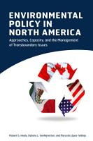 Environmental Policy in North America PDF