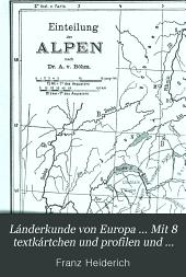 Lánderkunde von Europa ... Mit 8 textkártchen und profilen und einer karte der Alpeneinteilung