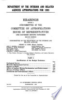 Department of the Interior and Related Agencies Appropriations for 1993