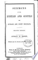 Sermons on the Epistles and Gospels for Sundays and chief holydays