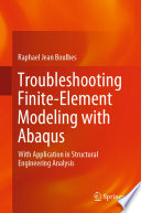 Troubleshooting Finite Element Modeling With Abaqus Book PDF