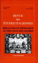 Héraclite et Démocrite