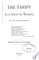 The Tariff As It Affects The Workshop