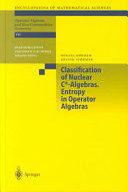 Classification of Nuclear C  Algebras  Entropy in Operator Algebras