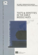 Texts and Identities in the Early Middle Ages