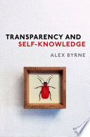 Transparency and Self Knowledge Book