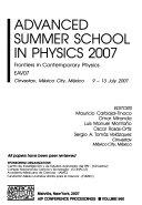 Advanced Summer School in Physics 2007