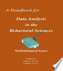 A Handbook for Data Analysis in the Behaviorial Sciences Book