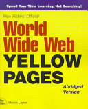 New Rider s Official World Wide Web Yellow Pages Book