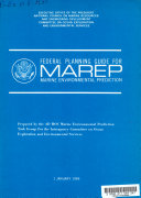 Federal Planning Guide for Marine Environmental Prediction  MAREP