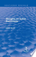 Thoughts on Indian Discontents  Routledge Revivals