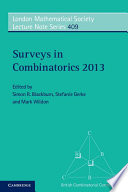 Surveys in Combinatorics 2013