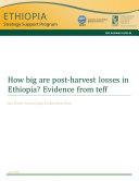 How big are post-harvest losses in Ethiopia? [Pdf/ePub] eBook