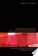 Transformative Religious Experience Book