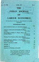 Indian Journal of Labour Economics