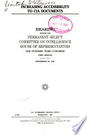 Increasing Accessibility to CIA Documents Book