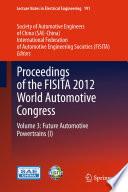 Proceedings Of The Fisita 2012 World Automotive Congress Book PDF