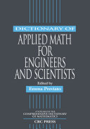 Dictionary of Applied Math for Engineers and Scientists Pdf/ePub eBook