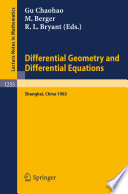 Differential Geometry and Differential Equations Book