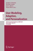 User Modeling, Adaptation and Personalization [Pdf/ePub] eBook