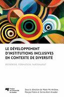 Pdf Le développement d'institutions inclusives en contexte de diversité Telecharger