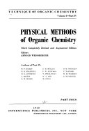 Physical Methods of Organic Chemistry Book