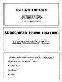 Zimbabwe-Rhodesia Telephone Directory
