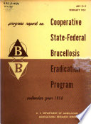 Progress Report  on  Cooperative State Federal Brucellosis Eradication