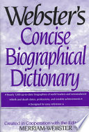 Webster's Concise Biographical Dictionary