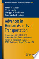 Advances in Human Aspects of Transportation Book