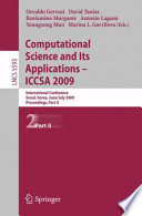 Computational Science and Its Applications     ICCSA 2009