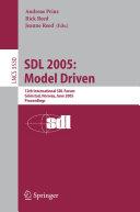 SDL 2005  Model Driven