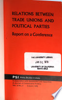 Relations Between Trade Unions and Political Parties
