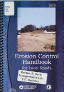 Erosion Control Handbook For Local Roads Book PDF