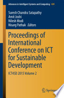Proceedings of International Conference on ICT for Sustainable Development  : ICT4SD 2015 , Volume 2