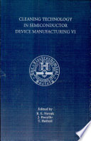 Cleaning Technology In Semiconductor Device Manufacturing Book PDF