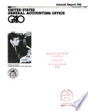 Annual Report of the General Accounting Office