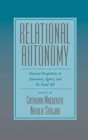 Pdf Relational Autonomy