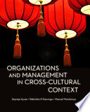 Organizations and Management in Cross Cultural Context