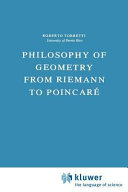 Philosophy of Geometry from Riemann to Poincaré