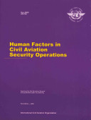 Human Factors In Civil Aviation Security Operations Book PDF