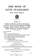 Book of ASTM standards  with related materials Book