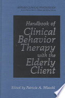 Handbook of Clinical Behavior Therapy with the Elderly Client Book