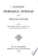 Chambers s Etymological Dictionary of the English Language Book