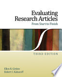 Evaluating Research Articles From Start to Finish Book