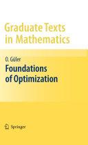 Foundations of Optimization
