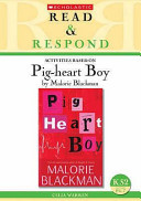 Activities based on Pig-heart boy by Malorie Blackman