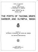 The Ports of Tacoma  Grays Harbor  and Olympia  Wash