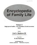 Encyclopedia Of Family Life Single Parent Families Zero Population Growth Movement Index